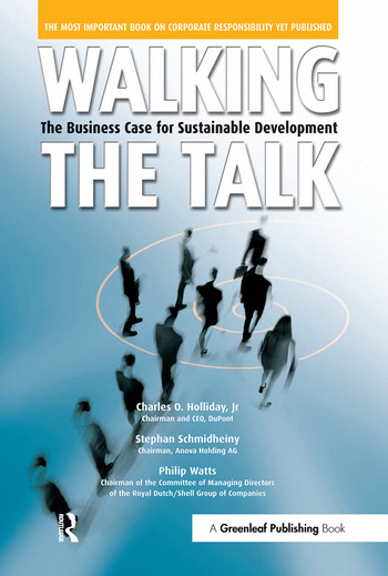 Walking the Talk The Business Case for Sustainable Development book cover