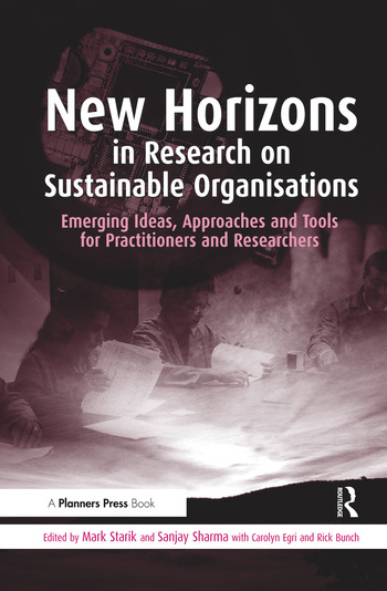 New Horizons in Research on Sustainable Organisations Emerging Ideas, Approaches and Tools for Practitioners and Researchers book cover