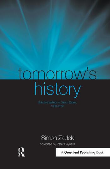 Tomorrow's History Selected Writings of Simon Zadek, 1993-2003 book cover