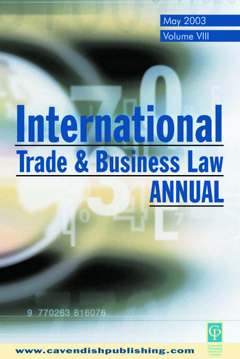 International Trade and Business Law Review Volume VIII book cover
