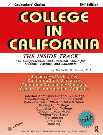 College in California The Inside Track 1995, Comprehensive Guide for Students book cover