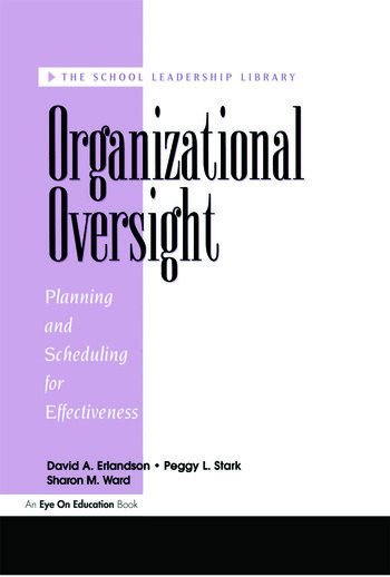 Organizational Oversight Planning and Scheduling for Effectiveness book cover