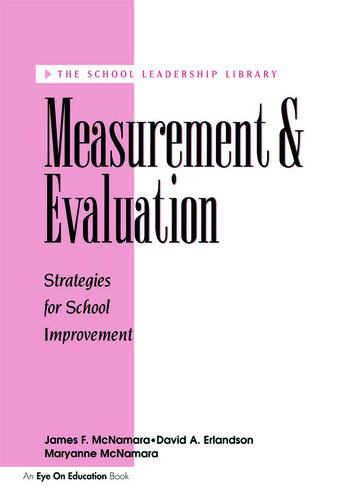 Measurement and Evaluation book cover
