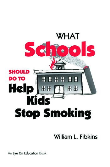 What Schools Should Do to Help Kids Stop Smoking book cover
