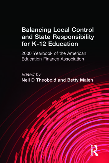 Balancing Local Control and State Responsibility for K-12 Education book cover