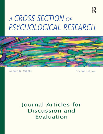 A Cross Section of Psychological Research Journal Articles for Discussion and Evaluation book cover