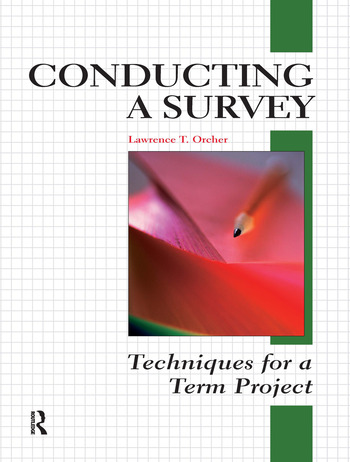 Conducting a Survey Techniques for a Term Project book cover