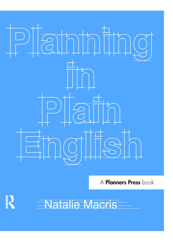 Planning in Plain English Writing Tips for Urban and Environmental Planners book cover
