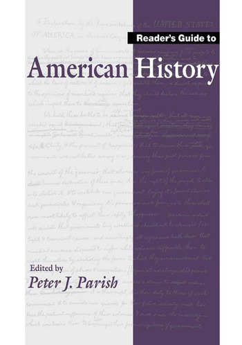 Reader's Guide to American History book cover