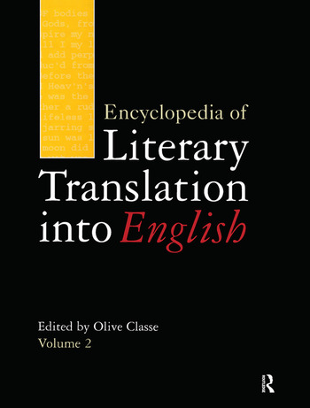 Encyclopedia of Literary Translation into English book cover