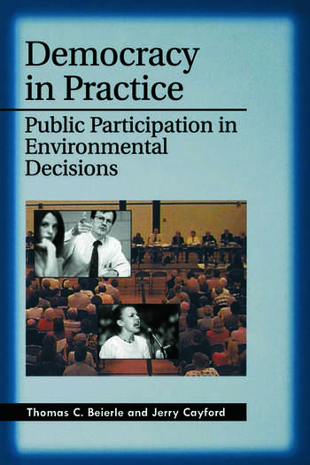 Democracy in Practice Public Participation in Environmental Decisions book cover