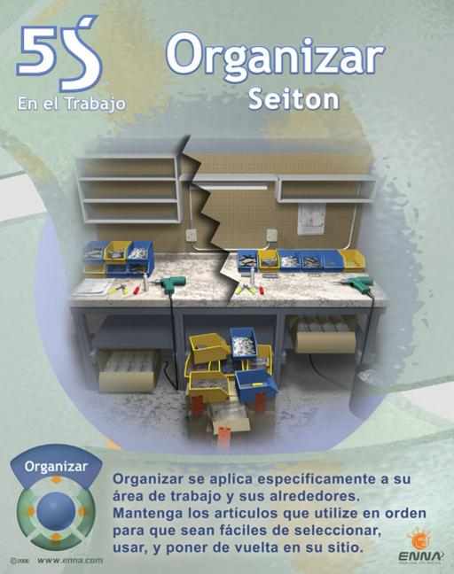 5S Straighten/Set in Order Poster (Spanish) book cover