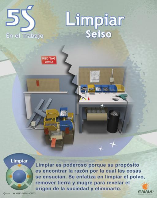 5S Sweep/Shine Poster (Spanish) book cover