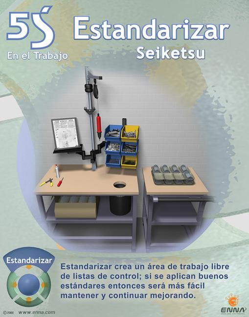5S Standardize Poster (Spanish) book cover