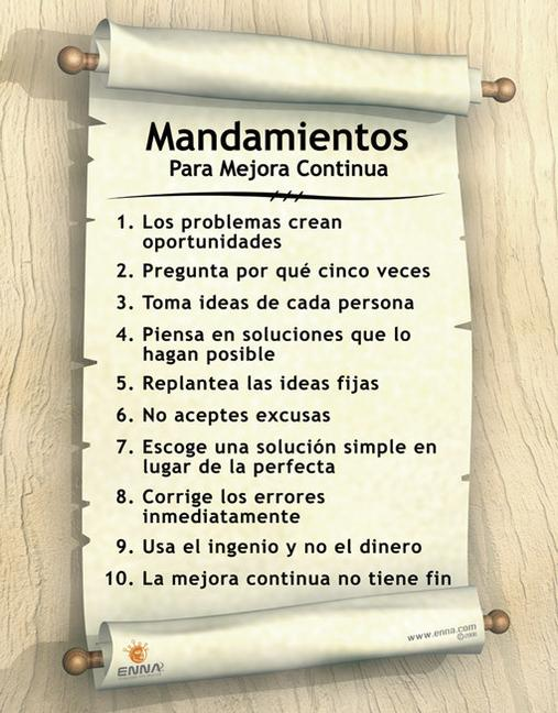 Continuous Improvement Poster (Spanish) book cover