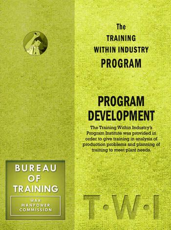 Training Within Industry: Program Development Program Development book cover
