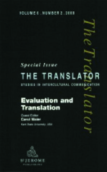 Evaluation and Translation Special Issue of