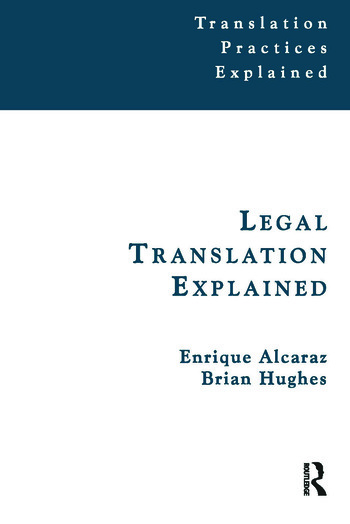 Legal Translation Explained book cover