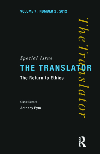 The Return to Ethics Special Issue of The Translator (Volume 7/2, 2001) book cover
