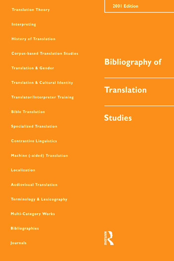 Bibliography of Translation Studies: 2001 book cover