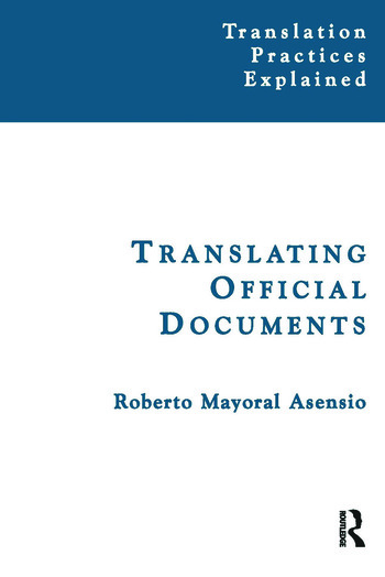 Translating Official Documents book cover