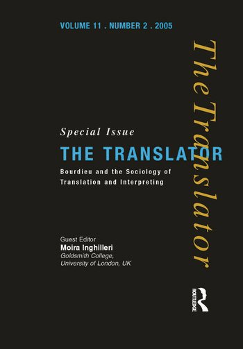 Bourdieu and the Sociology of Translation and Interpreting book cover