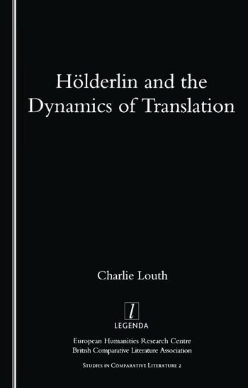 Holderlin and the Dynamics of Translation book cover