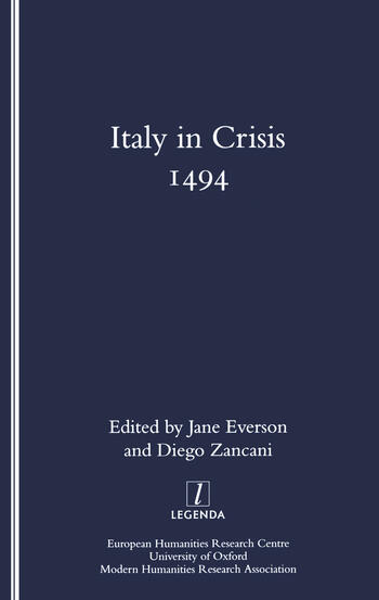 Italy in Crisis 1494 book cover
