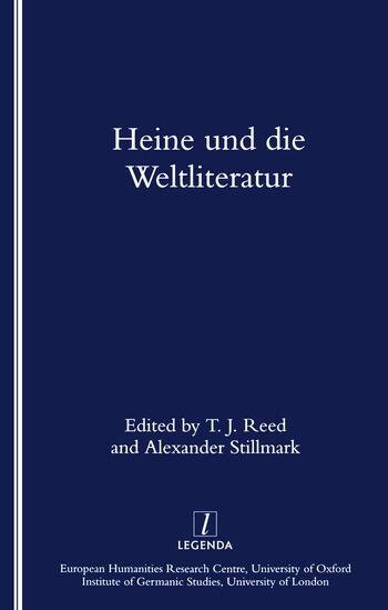 Heine Und Die Weltliteratur book cover