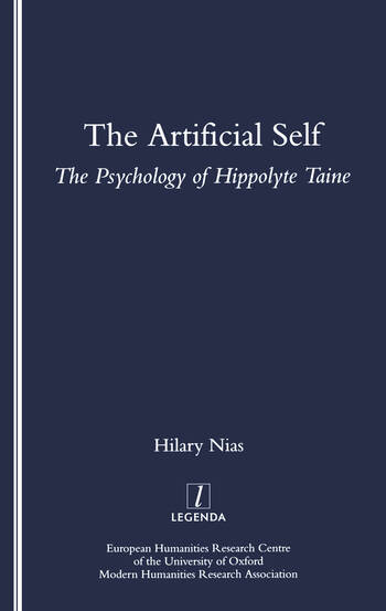 The Artificial Self The Psychology of Hippolyte Taine book cover