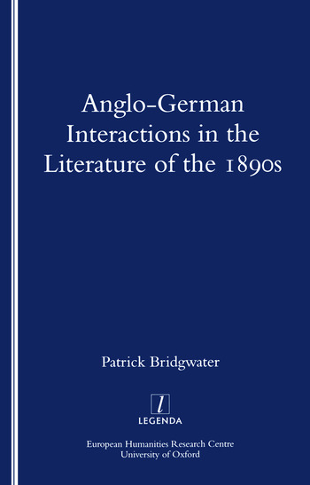 Anglo-German Interactions in the Literature of the 1890s book cover