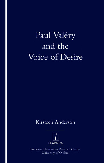 Paul Valery and the Voice of Desire book cover