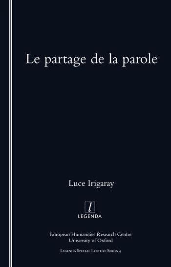 Le Partage De La Parole book cover