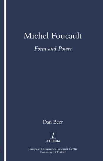 Michel Foucault Form and Power book cover