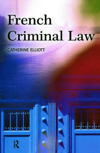 French Criminal Law book cover