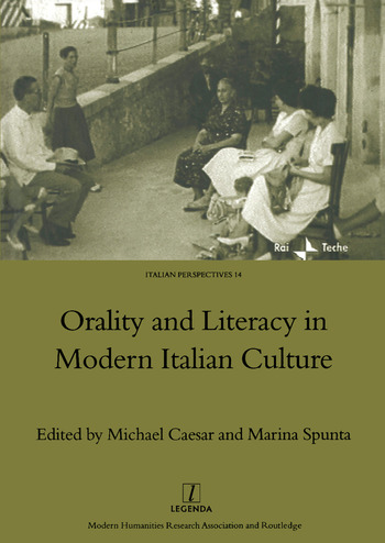 Orality and Literacy in Modern Italian Culture book cover