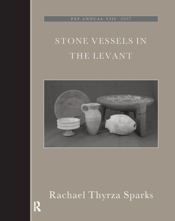 Stone Vessels in the Levant book cover