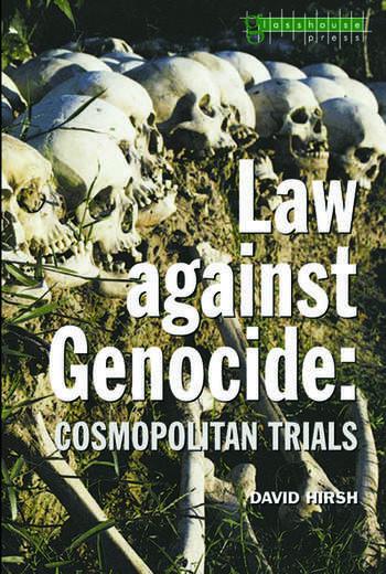 Law Against Genocide Cosmopolitan Trials book cover