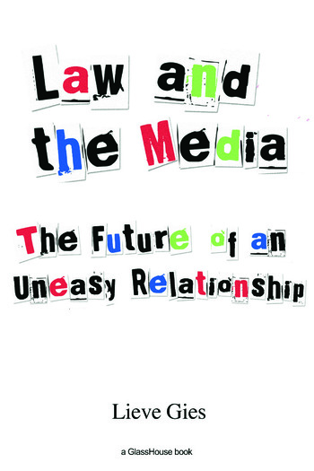 Law and the Media The Future of an Uneasy Relationship book cover