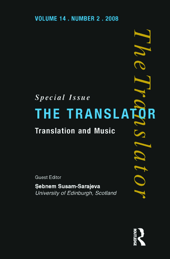 Translation and Music book cover