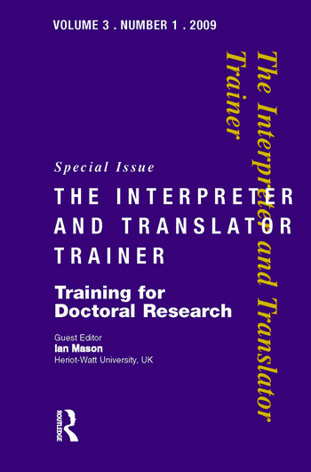 Training for Doctoral Research book cover