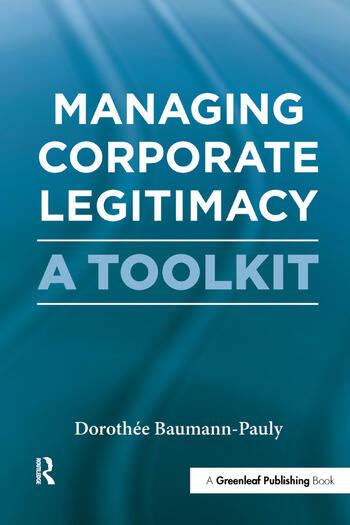Managing Corporate Legitimacy A Toolkit book cover