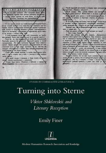 Turning into Sterne Viktor Shklovskii and Literary Reception book cover