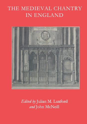 The Medieval Chantry in England book cover