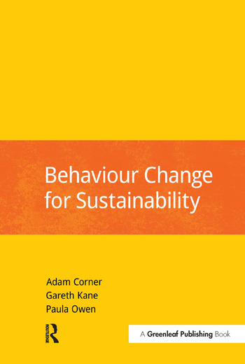 Behaviour Change for Sustainability book cover