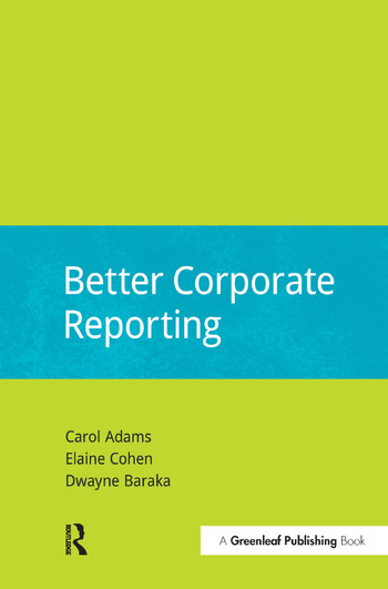 Better Corporate Reporting book cover