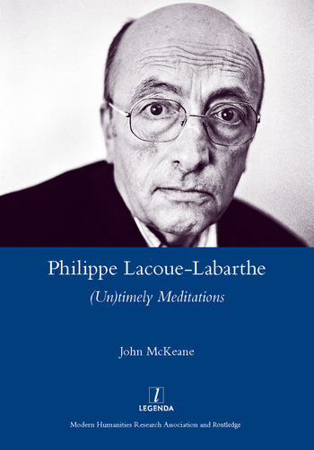 Philippe Lacoue-Labarthe (Un)Timely Meditations book cover