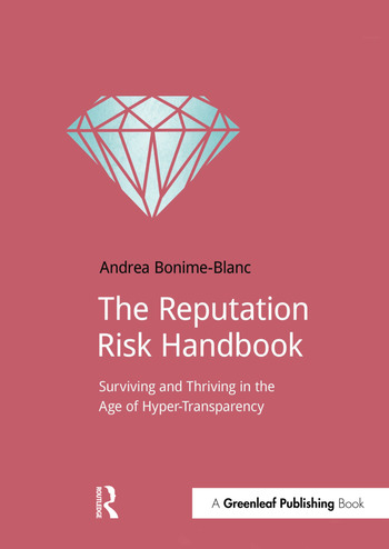 The Reputation Risk Handbook Surviving and Thriving in the Age of Hyper-Transparency book cover
