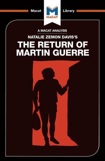 An Analysis of Natalie Zemon Davis's The Return of Martin Guerre book cover
