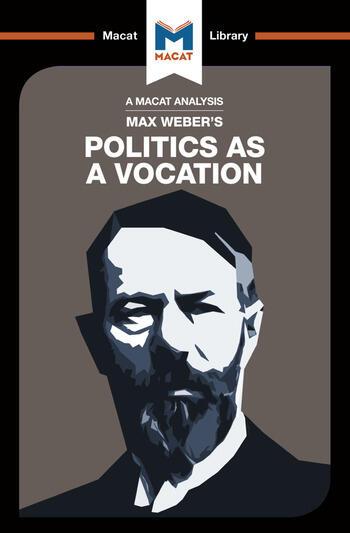 Politics as a Vocation book cover